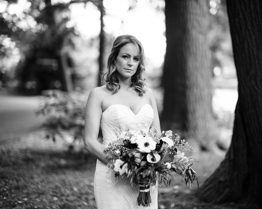 B&W asheville wedding